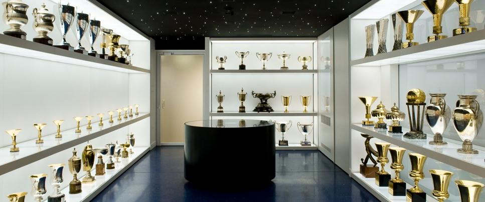 Salle des trophées de l'Inter Milan